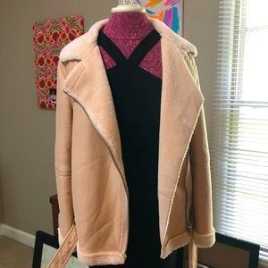 Forever 21 Motorcycle Style Sherpa Jacket